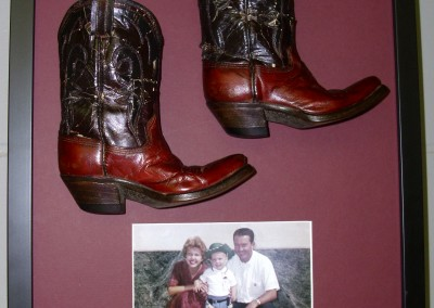 Childhood Cowboy Boots and Photo(2)